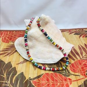Tropical, tiki-inspired necklace - 'Island Pride.'